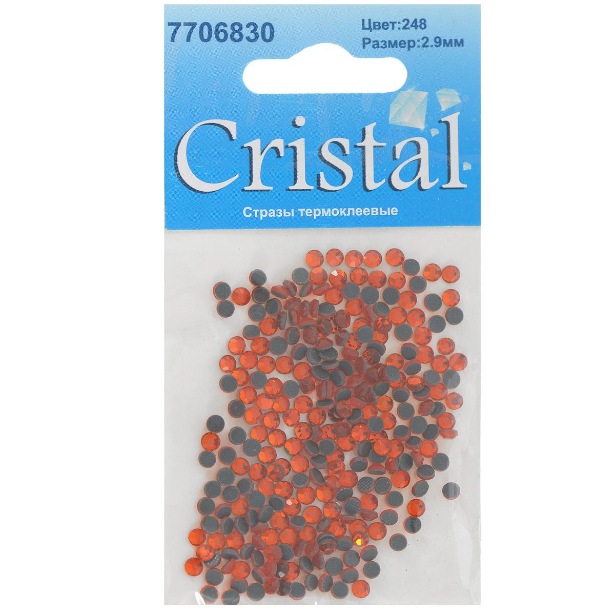 Стразы термоклеевые Cristal, цвет: гранатовый (248), диаметр 2,9 мм, 288 штK100Набор термоклеевых страз Cristal, изготовленный из высококачественного акрила, позволит вам украсить одежду, аксессуары или текстиль. Яркие стразы имеют плоское дно и круглую поверхность с гранями.Дно термоклеевых страз уже обработано особым клеем, который под воздействием высоких температур начинает плавиться, приклеиваясь, таким образом, к требуемой поверхности. Чаще всего их используют в текстильной промышленности: стразы прикладывают к ткани и проглаживают утюгом с обратной стороны. Также можно использовать специальный паяльник. Украшение стразами поможет сделать любую вещь оригинальной и неповторимой. Диаметр страз: 2,9 мм.