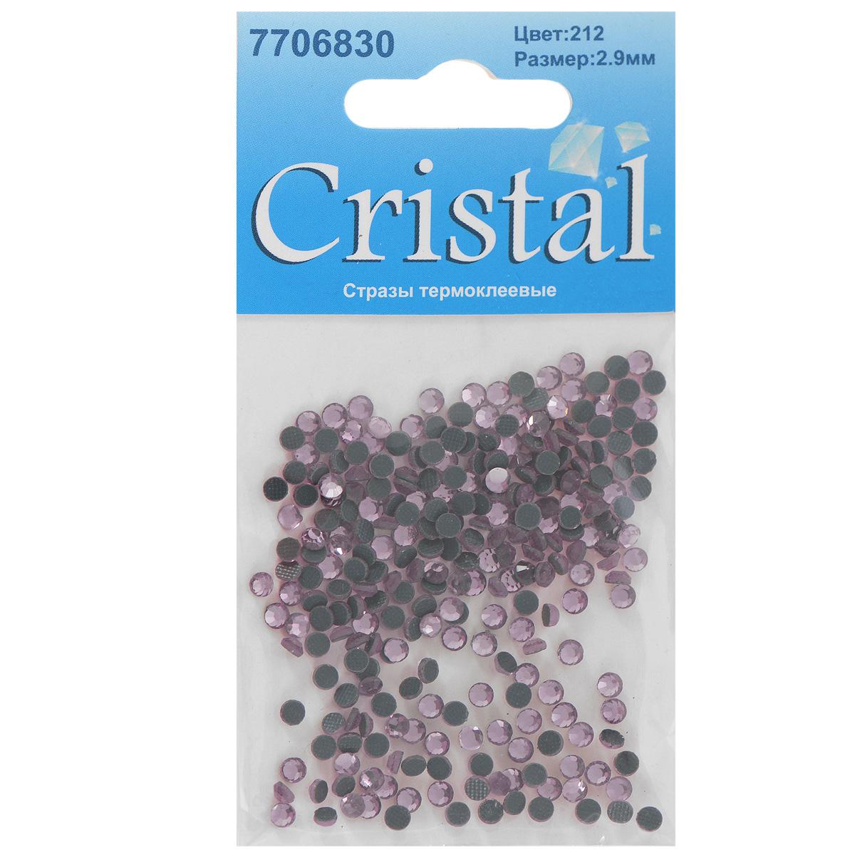 Стразы термоклеевые Cristal, цвет: бледно-розовый (212), диаметр 2,9 мм, 288 шт55052Набор термоклеевых страз Cristal, изготовленный из высококачественного акрила, позволит вам украсить одежду, аксессуары или текстиль. Яркие стразы имеют плоское дно и круглую поверхность с гранями.Дно термоклеевых страз уже обработано особым клеем, который под воздействием высоких температур начинает плавиться, приклеиваясь, таким образом, к требуемой поверхности. Чаще всего их используют в текстильной промышленности: стразы прикладывают к ткани и проглаживают утюгом с обратной стороны. Также можно использовать специальный паяльник. Украшение стразами поможет сделать любую вещь оригинальной и неповторимой. Диаметр страз: 2,9 мм.