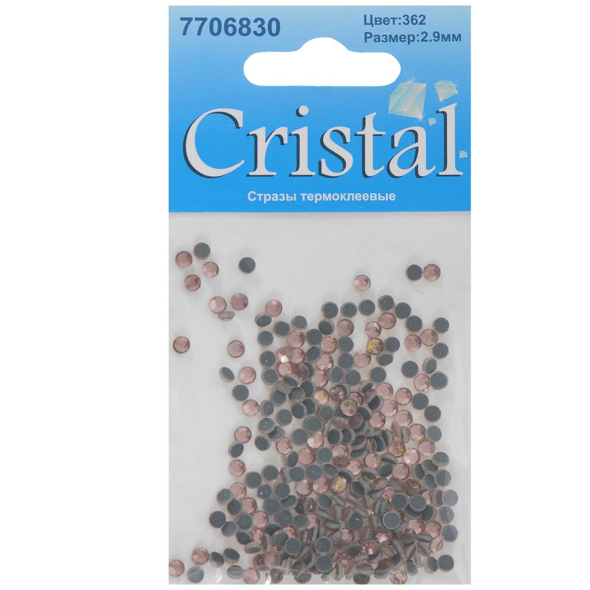 Стразы термоклеевые Cristal, цвет: светло-коралловый (362), диаметр 2,9 мм, 288 шт55052Набор термоклеевых страз Cristal, изготовленный из высококачественного акрила, позволит вам украсить одежду, аксессуары или текстиль. Яркие стразы имеют плоское дно и круглую поверхность с гранями.Дно термоклеевых страз уже обработано особым клеем, который под воздействием высоких температур начинает плавиться, приклеиваясь, таким образом, к требуемой поверхности. Чаще всего их используют в текстильной промышленности: стразы прикладывают к ткани и проглаживают утюгом с обратной стороны. Также можно использовать специальный паяльник. Украшение стразами поможет сделать любую вещь оригинальной и неповторимой. Диаметр страз: 2,9 мм.