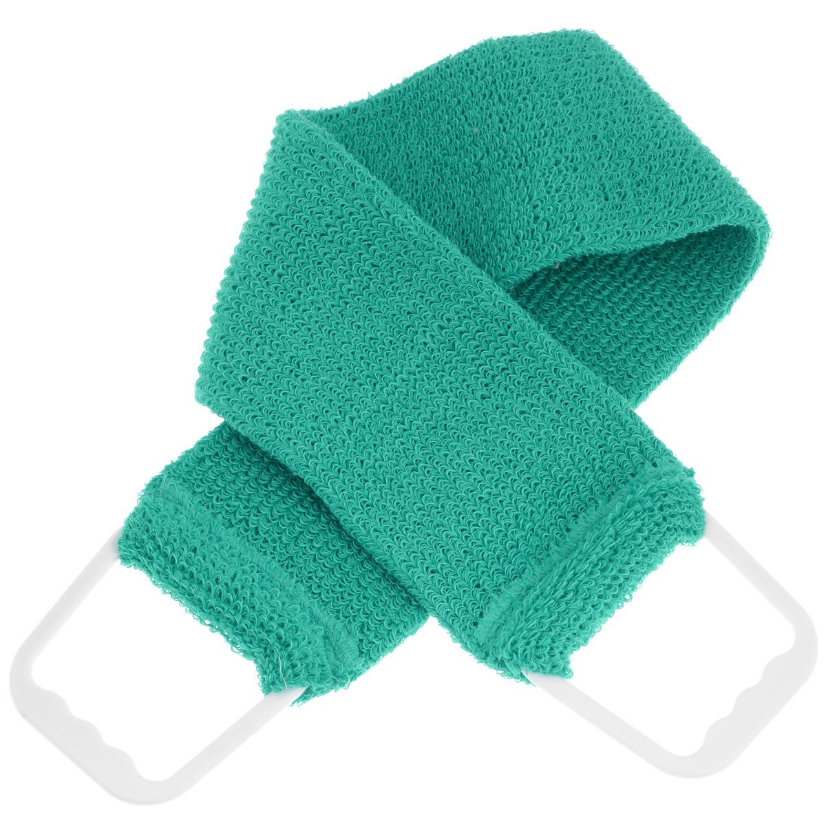 Мочалка-пояс массажная Riffi, цвет: бирюзовыйSC-FM20104Мочалка-пояс Riffi используется для мытья тела, обладает активным пилинговым действием, тонизируя, массируя и эффективно очищая вашу кожу.Примесь жестких синтетических волокон усиливает массажное воздействие на кожу. Для удобства применения пояс снабжен двумя пластиковыми ручками. Благодаря отшелушивающему эффекту мочалки-пояса, кожа освобождается от отмерших клеток, становится гладкой, упругой и свежей.Массаж тела с применением Riffi стимулирует кровообращение, активирует кровоснабжение, способствует обмену веществ, что в свою очередь позволяет себя чувствовать бодрым и отдохнувшим после принятия душа или ванны. Riffi регенерирует кожу, делает ее приятно нежной, мягкой и лучше готовой к принятию косметических средств. Приносит приятное расслабление всему организму. Борется со спазмами и болями в мышцах, предупреждает образование целлюлита и обеспечивает омолаживающий эффект. Моет легко и энергично. Быстро сохнет. Гипоаллергенная.Способ применения: начинайте массаж от ног круговыми движениями по направлению к сердцу, а затем выше.Товар сертифицирован.