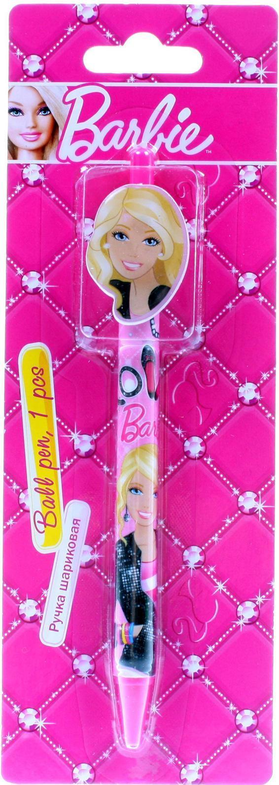 Ручка шариковая с фигурным клипом в блистере. Barbie72523WDЦвет: розовый. Материал: Пластик, . Поверхность: Бумага. Упаковка: Блистер.