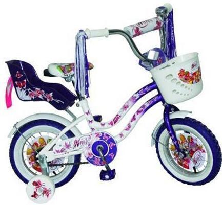 Велосипед детский Navigator Winx Purple/WhiteWRA523700Велосипед Navigator Winx - двухколесный (12 дюймов), отлично подойдет для активной прогулки вашего ребенка, он стильный, изящный, яркий, обязательно придется по душе вашему малышу. Рассчитан на детишек от трех лет. Велосипед изготовлен из металла, что дает ему устойчивость к повреждениям. У велосипеда мягкое, регулируемое сиденье, боковые страховочные колесики, багажник и корзина на руле для различных принадлежностей вашего ребенка, защита цепи.