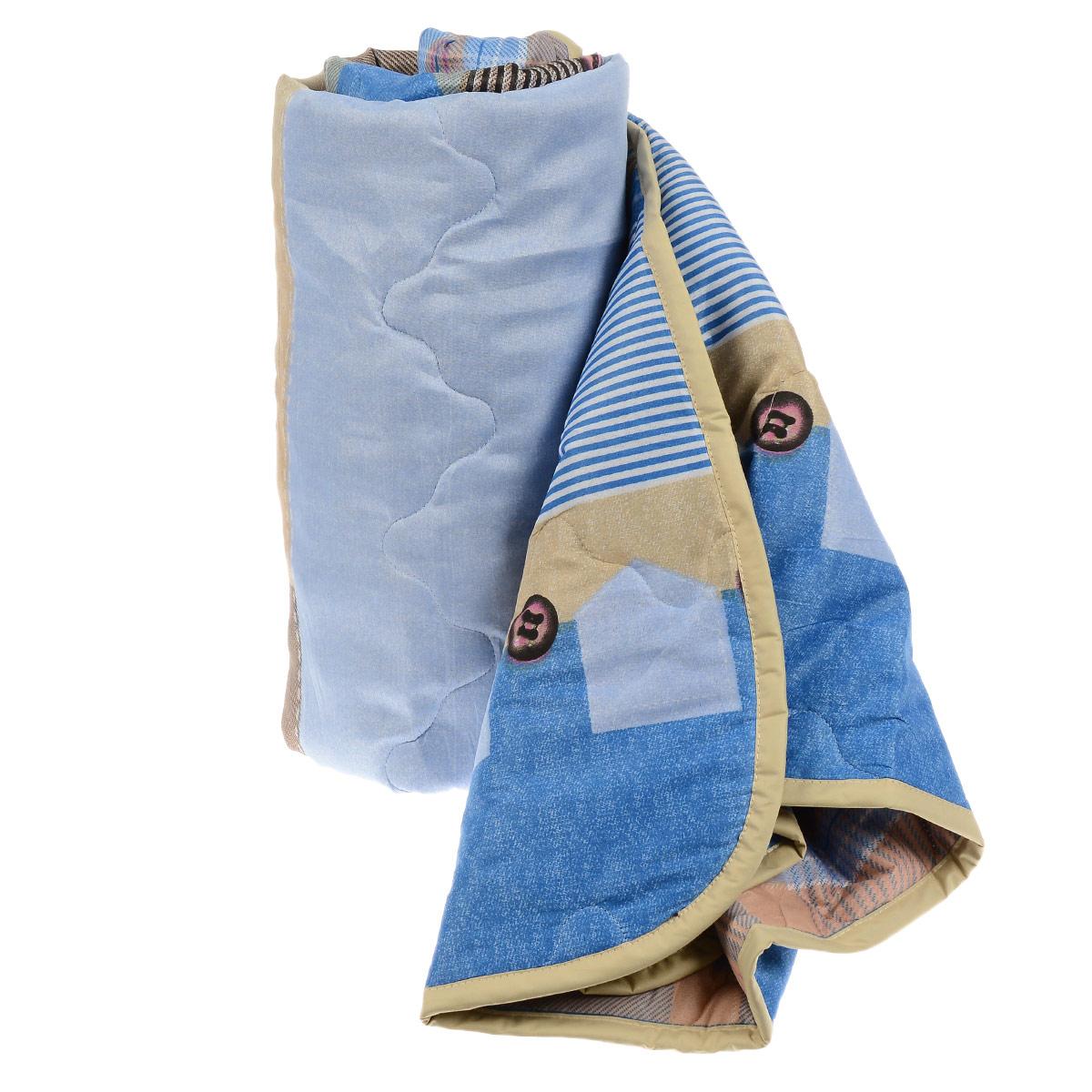 Одеяло всесезонное OL-Tex Miotex, наполнитель: полиэфирное волокно Holfiteks, цвет: голубой, бежевый, 140 см х 205 см531-105Всесезонное одеяло OL-Tex Miotex создаст комфорт и уют во время сна. Стеганый чехол выполнен из полиэстера и оформлен красочным рисунком. Внутри - современный наполнитель из полиэфирного высокосиликонизированного волокна Holfiteks, упругий и качественный. Холфитекс - современный экологически чистый синтетический материал, изготовленный по новейшим технологиям. Его уникальность заключается в расположении волокон, которые позволяют моментально восстанавливать форму и сохранять ее долгое время. Изделия с использованием Холфитекса очень удобны в эксплуатации - их можно часто стирать без потери потребительских свойств, они быстро высыхают, не впитывают запахов и совершенно гиппоаллергенны. Холфитекс также обеспечивает хорошую терморегуляцию, поэтому изделия с наполнителем из холфитекса очень комфортны в использовании. Одеяло с современным упругим наполнителем Холфитекс порадует вас в любое время года. Оно комфортно согревает и создает отличный микроклимат. За одеялом легко ухаживать, можно стирать в стиральной машинке.Рекомендации по уходу:- Ручная и машинная стирка при температуре 30°С.- Не гладить.- Не отбеливать. - Нельзя отжимать и сушить в стиральной машине.- Сушить вертикально. Размер одеяла: 140 см х 205 см. Материал чехла: 100% полиэстер. Материал наполнителя: полиэфирное высокосиликонизированное волокно Holfiteks. Плотность наполнителя: 300 г/м2.