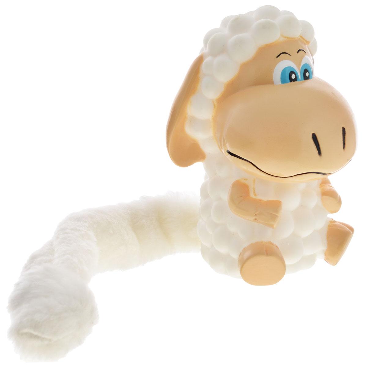 Игрушка для собак Aveva Овечка12171996Игрушка для собак Aveva Овечка, выполненная в виде забавной овечки с плюшевым хвостом, изготовлена из резины. Такая игрушка позволит весело провести время вашему питомцу, а также поможет вам сохранить в целости личные вещи и предметы интерьера. Яркая игрушка привлечет внимание вашего любимца, не навредит здоровью и займет его на долгое время.Длина хвоста игрушки: 20 см.