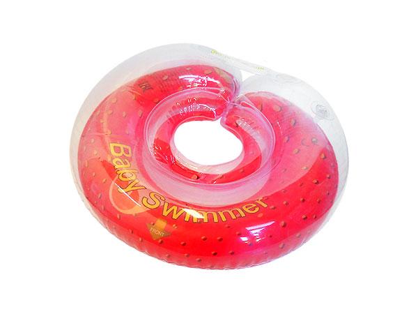 Круг на шею  Baby Swimmer  Клубничка, 6-36 кг -  Круги для купания
