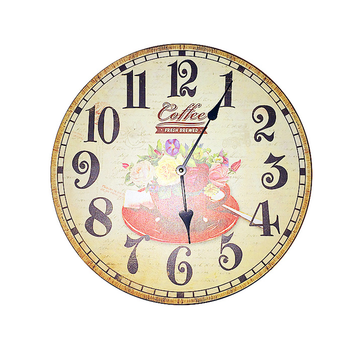 Настенные часы Летний букет. МДФ. 2000-е годы300074_ежевикаНастенные часы в винтажном стиле Летний букет. МДФ. 2000-е годы.Диаметр часов 34 см.Сохранность отличная.Часы работают от батареи.Батарейка к часам не прилагается.