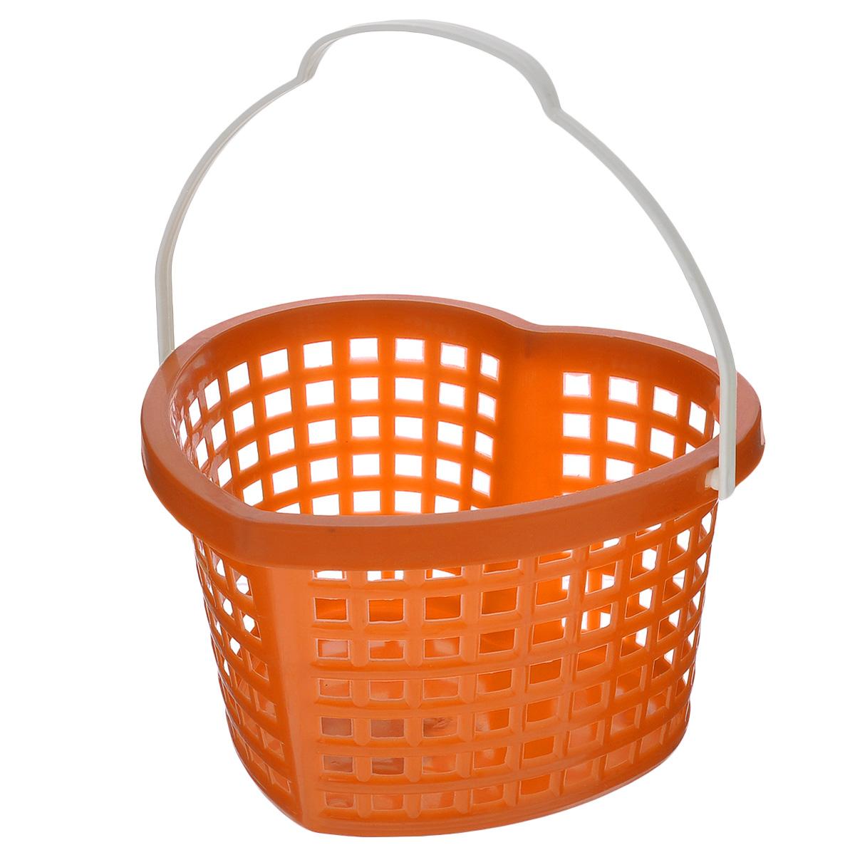 Корзина Sima-land Сердце, цвет: оранжевый, 19 см х 17 см х 12 смTD 0033Корзина Sima-land Сердце, изготовленная из высококачественного прочного пластика, предназначена для хранения мелочей в ванной, на кухне, даче или гараже. Изделие выполнено в виде сердца и оснащено эргономичной ручкой для переноски.Это легкая корзина со сплошным дном, жесткой кромкой и небольшими отверстиями, которая позволяет хранить мелкие вещи, исключая возможность их потери.