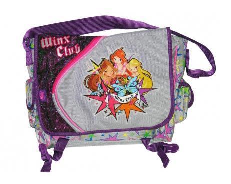 Рюкзак детский Winx Club, цвет: фиолетовый, серый. 6331217884Детский рюкзак Winx сконструирован так, что когда он заполнен, то позволяет ребенку держать спинку прямо. Если ему приходиться наклоняться вперед, что бы удерживать равновесие, то Вы выбрали плохо сконструированный рюкзак.