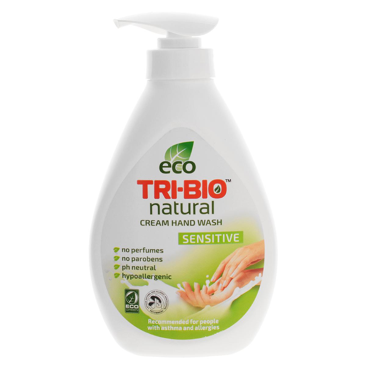 Натуральное жидкое эко крем-мыло Tri-Bio Нежное, 240 мл934726Tri-Bio Нежное - это уникальное жидкое крем-мыло, основанное на натуральных растительных и минеральных компонентах. Подходит для нежной кожи детей. Рекомендовано для людей с сухой, чувствительной кожей, склонных к аллергиям и астме.Гипоаллергенное, не содержит ароматов, красителей и парабенов, нейтральный рн, биоразлагаемое. Восстанавливает естественный баланс кожи и влажность. Помогает сохранить кожу мягкой, гладкой, шелковистой и здоровой. Присвоены ECO сертификаты.
