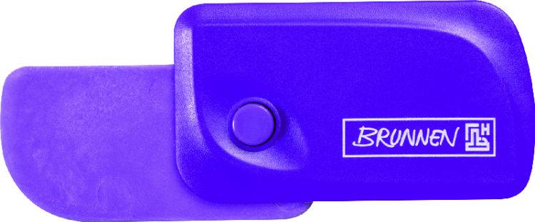 Brunnen Ластик Клик, цвет: фиолетовый72523WDАвтоматический ластик Brunnen Клик станет незаменимым аксессуаром на рабочем столе не только школьника или студента, но и офисного работника. Ластик в пластиковом прямоугольном корпусе фиолетового цвета. На корпусе имеются отверстия для подвесок и брелоков. Ластик выдвигается из корпуса с приятным приглушенным щелчком (сбоку на корпусе есть кнопка для выдвижения ластика). Выдвигающийся ластик имеет прямоугольную форму со слегка закругленным одним краем.