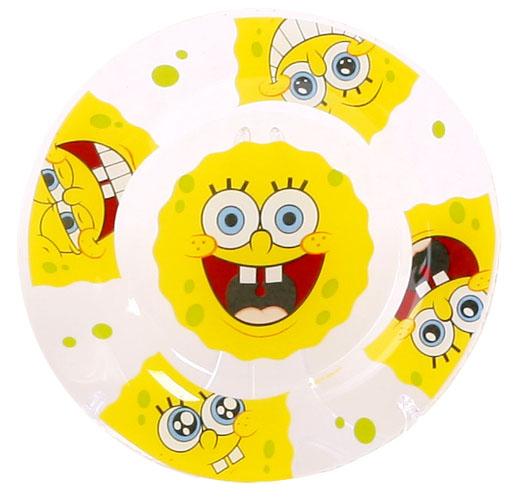 Губка Боб Тарелка Улыбки диаметр 19,5 см17310_оранжевыйЯркая стеклянная тарелка с героями из самого популярного мультфильма Губка Боб. Тарелка, несомненно, привлечет внимание вашего ребенка и не позволит ему скучать.Диаметр: 19,5 см.