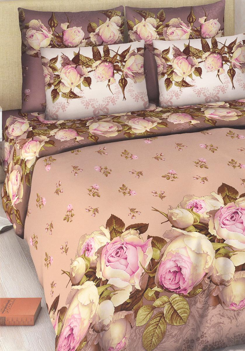 Комплект белья Василиса Французский аромат, 2-спальный, наволочки 70х70, цвет: сиреневыйK100Комплект постельного белья Василиса Французский аромат состоит из пододеяльника, простыни и двух наволочек. Дизайн - крупные сочные розы. Белье изготовлено из бязи - гипоаллергенного, экологичного, высококачественного, крупнозакрученного волокна, благодаря чему эта ткань мягкая, нежная на ощупь и очень прочная, не образует катышков на поверхности. При соблюдении рекомендаций по уходу, это белье выдерживает много стирок (более 70), не линяет и не теряет свою первоначальную прочность. Уникальная ткань обеспечивает легкую глажку.