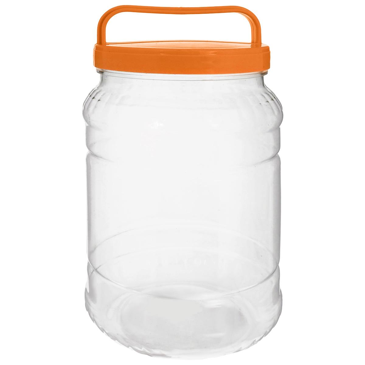 Бидон Альтернатива, цвет: прозрачный, оранжевый, 2 л0205ADБидон Альтернатива предназначен для хранения и переноски пищевых продуктов, таких как молоко, вода и прочее. Выполнен из пищевого высококачественного пластика. Оснащен ручкой для удобной переноски.Бидон Альтернатива станет незаменимым аксессуаром на вашей кухне.Высота бидона (без учета крышки): 20,5 см.Диаметр: 10,5 см.