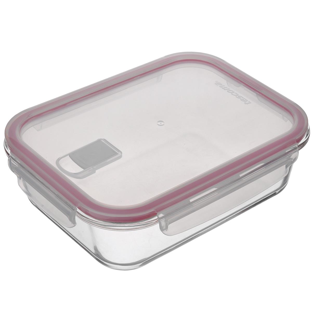 Контейнер Tescoma Freshbox Glass, 1,5 лVT-1520(SR)Контейнер Tescoma Freshbox Glass отлично подходит для хранения, запекания и разогрева блюд. Герметичная крышка имеет силиконовый уплотнитель, пища остается свежей дольше и не протекает при перевозке. Клапан для выпуска пара позволяет разогреть пищу в микроволновой печи с крышкой. Изготовлен контейнер из термостойкого боросиликатного стекла, отличного силикона и прочной пластмассы. Устойчив от -18°С до +110°С (крышка) и 240°C (корпус). Подходит для холодильника, морозильных камер, микроволновой печи и посудомоечной машины.