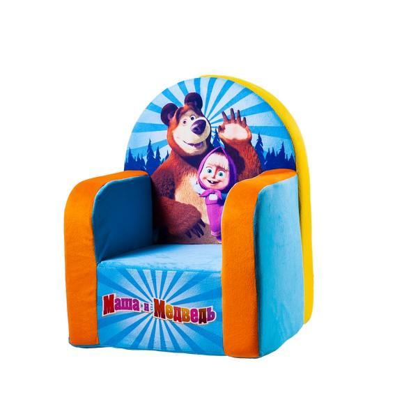 СмолТойс Мягкая игрушка Кресло Маша и Медведь цвет голубойFS-80264Кресло СмолТойс Маша и медведь идеально впишется в интерьер детской комнаты. Устойчивость кресла обеспечивается широкой площадью соприкосновения с полом. Мягкое кресло не имеет деревянных и прочих жестких вставок, поэтому вы можете быть спокойны за безопасность вашего малыша. Кресло имеет яркую окраску и практичный съемный чехол, который при необходимости вы сможете постирать. Оно особенно понравится тем малышам, которые обожают мультфильмы про Машу и Медведя. На кресле изображены главные персонажи мультика.Кресло создано из нетоксичных и качественных материалов, которые прошли проверку на безопасность для детей.Особенности:Высокая устойчивость благодаря широкой площади соприкосновения с полом.Внутри кресла нет жестких деталей, что делает его безопасным.Размер кресла: 41 х 32 х 54 см.