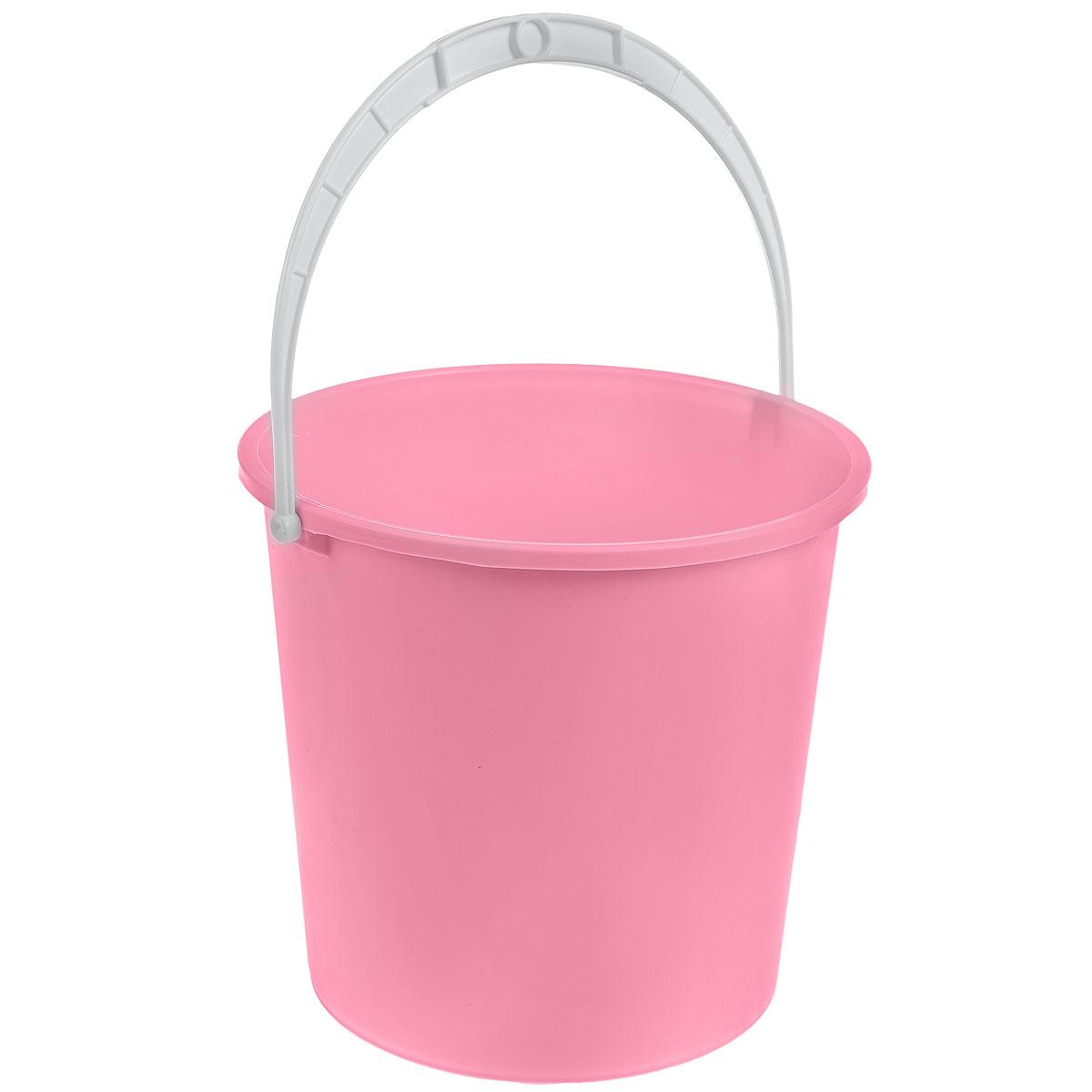 Ведро Альтернатива Крепыш, цвет: розовый, 5 лCLP446Ведро Альтернатива Крепыш изготовлено из высококачественного одноцветного пластика. Оно легче железного и не подвержено коррозии. Ведро оснащено удобной пластиковой ручкой. Такое ведро станет незаменимым помощником в хозяйстве. Диаметр: 22 см.Высота: 20,5 см.