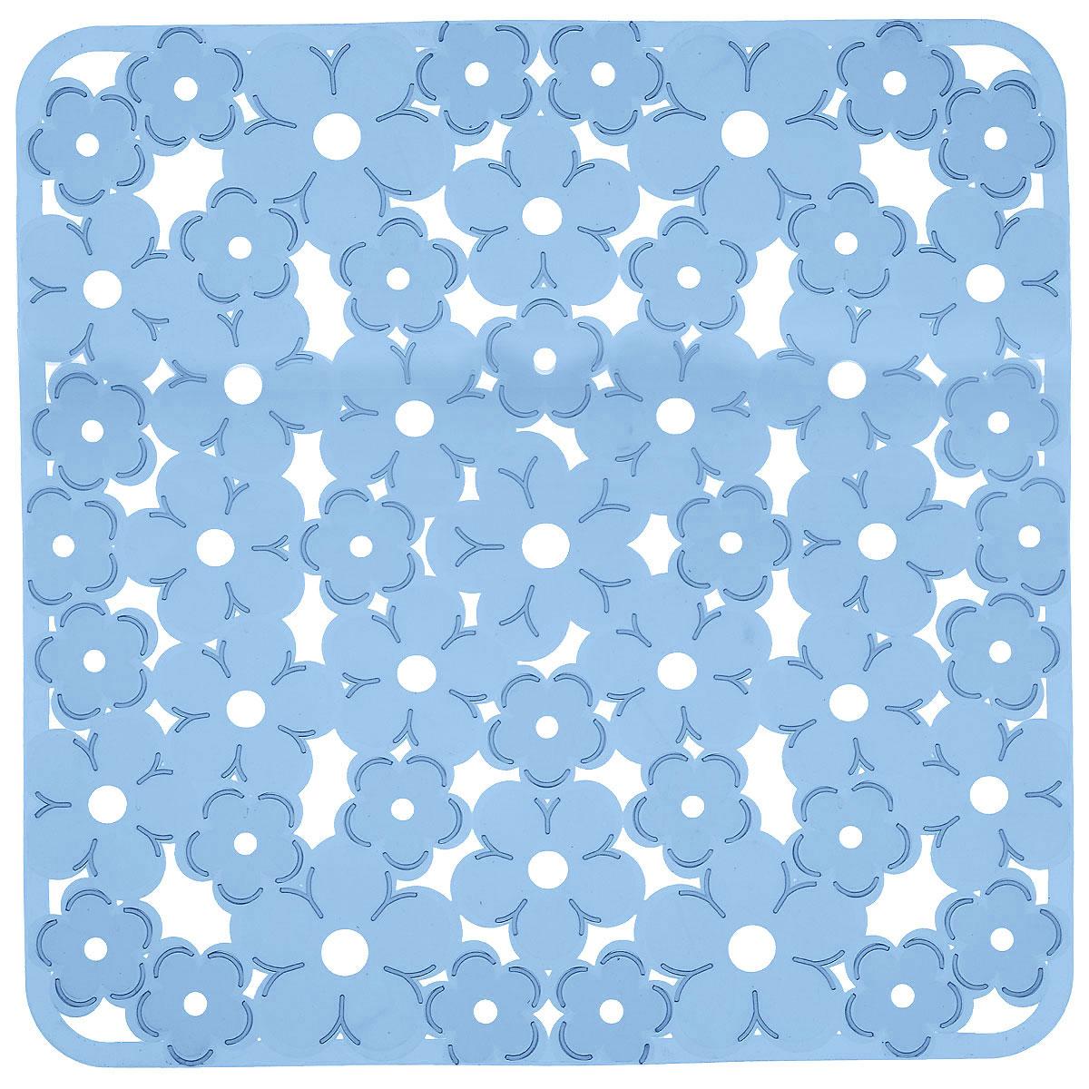 Коврик для раковины Metaltex, цвет: синий, 32 см х 32 см54 009312Коврик для раковины Metaltex изготовлен из ПВХ с цветочным рисунком. Коврик имеет квадратную форму, поэтому прекрасно подойдет для любых раковин. Такой коврик защитит вашу посуду во время мытья, а также предотвратит засор труб, задерживая остатки пищи. Товар сертифицирован.