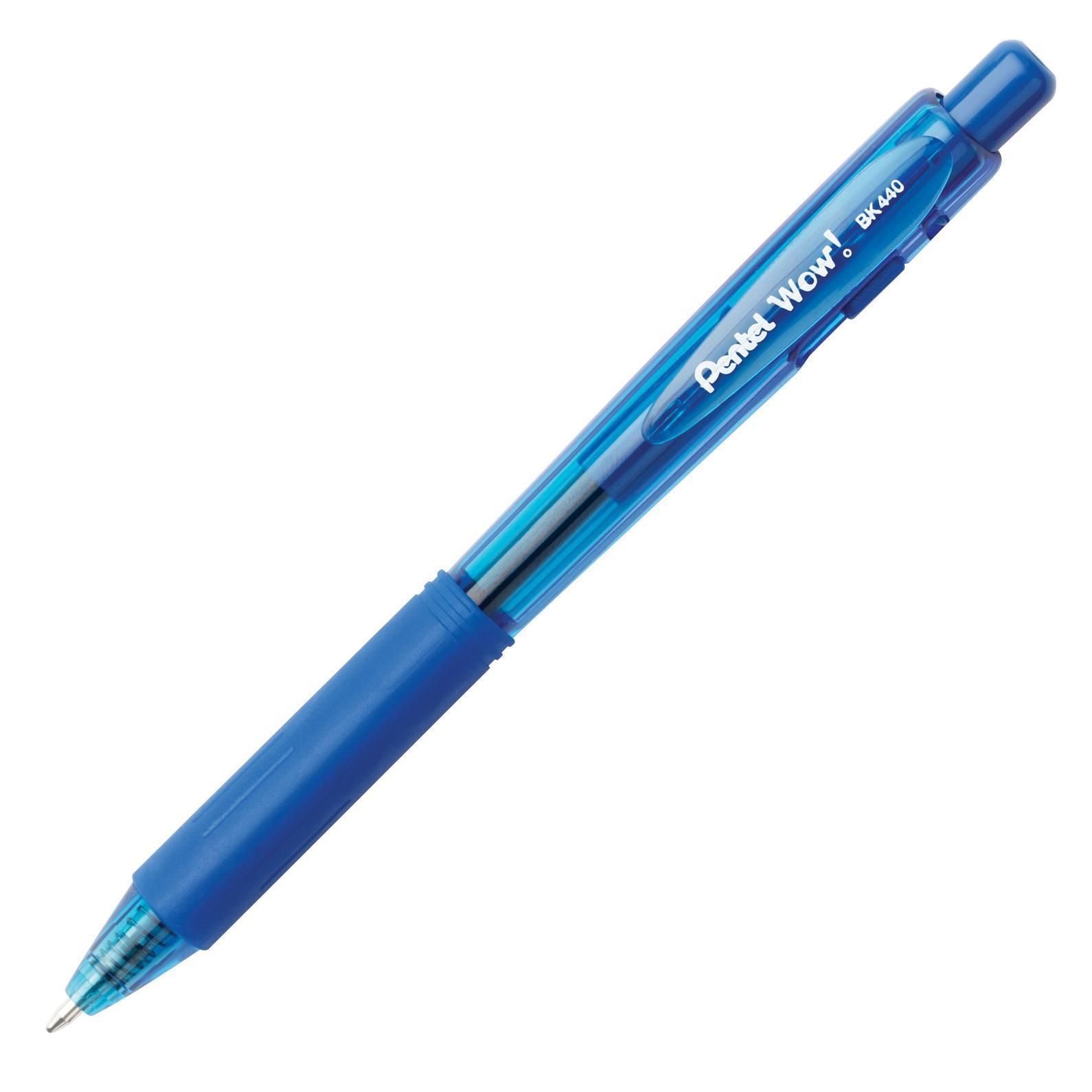 Шар.ручка авт. синий стержень 1.0 мм трехгран.корпус, в блистереPBK440-C