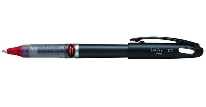 Гелевая ручка TRADIO ENERGEL красный стержень 0.7мм, черный корпус, в блистереPBL117A-BX