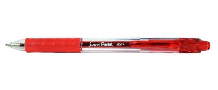 Шар.ручка SUPER PENTEL красный стержень 0.7ммPBK477-B