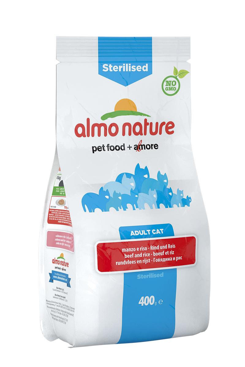 Корм сухой Almo Nature Functional line для кастрированных кошек, с говядиной и рисом, 400 г20355Полнорационный корм Almo Nature Functional line рекомендован для кастрированных кошек. Корм содержит большой процент свежего мяса, что обеспечивает необходимым количеством питательных веществ и оптимальным содержанием протеина. Прекрасный вкус обеспечивается за счет свежих натуральных ингредиентов. Не содержит искусственных добавок, красителей, ароматизаторов, консервантов. Состав: мясо и его производные (15% свежей говядины ), злаки (рис 14%), экстракт растительного белка, масла и жиры, производные растительного происхождения (клетчатка 0,5%,инулин из цикория- источник ФОС-0,1%, юкка шидигера 0,1%), дрожжи, минералы, мананоолигосахариды, семена (льняное семя 0,1%). Пищевые добавки: витамин A 24000 IU/кг, витамин D3 1700 IU/кг, витамин E 400 мг/кг, витамин B1 10 мг/кг, витамин B2 8 мг/кг, кальций-D-пантотенат 16 мг/кг, витамин B6 6 мг/кг, витамин B12 0,15 мг/кг, витамин C 50 мг/кг, витамин K 1 мг/кг, биотин 0,50 мг/кг, фолиевая кислота 1 мг/кг, таурин 480 мг/кг,сульфат меди пентагидрат 32 мг/кг, меди хелат аминокислоты гидрат 40 мг/кг, иодат кальция 1,54 мг/кг, оксид цинка 166,7 мг/кг, цинк хелат гидрат аминокислоты 266,7 мг/кг, сульфат марганца моногидрат 78,1 мг/кг, органический селен 65,2 мг/кг.Пищевая ценность: белки 32%, клетчатка 2,9%, масла и жиры 17%, зола 8,3%, магний 0,07%, кальций 1,59%, фосфор 1%, влажность 8,5%. Калорийность: 3500 ккал/кг.Товар сертифицирован.