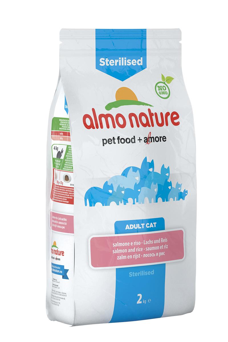Корм сухой Almo Nature Functional line для кастрированных кошек, с лососем и рисом, 2 кг0120710Полнорационный корм Almo Nature Functional line рекомендован для кастрированных кошек. Корм содержит большой процент свежей рыбы, что обеспечивает необходимым количеством питательных веществ и оптимальным содержанием протеина. Прекрасный вкус обеспечивается за счет свежих натуральных ингредиентов. Не содержит искусственных добавок, красителей, ароматизаторов, консервантов. Состав: рыба и ее производные (16,8% свежий лосось), мясо и его производные, злаки ( рис 16,5%), экстракт растительного белка, масла и жиры, производные растительного происхождения (клетчатка 0,5%, юкка шидигера 0,3%, Инулин из цикория - источник ФОС-0,1%), дрожжи, минералы, мананоолигосахариды. Пищевые добавки: витамин A 24000 IU/кг, витамин D3 850 IU/kg, витамин E 400 мг/кг, витамин B1 5 мг/кг, витамин B2 4 мг/кг, кальций-D-пантотенат 8 мг/кг, витамин B6 3 мг/кг, витамин B12 0,08 мг/кг, витамин C 25 мг/кг, витамин K 0,50 мг/кг, ниацин 25 мг/кг, биотин 0,25 мг/кг, фолиевая кислота 0,50 мг/кг, таурин 750 мг/кг,сульфат меди пентагидрат 16 мг/кг, меди хелат аминокислоты гидрат 20 мг/кг, иодат кальция 0,77 мг/кг, оксид цинка 83,34 мг/кг, цинк хелат гидрат аминокислоты 133,34 мг/кг, сульфат марганца моногидрат 39,07 мг/кг, органический селен 32,6 мг/кг. Пищевая ценность: белки 31%, клетчатка 2,9%, масла и жиры 15,3%, зола 7,1%, магний 0,08%, кальций 1,09%, фосфор 0,8%, влажность 8,5%. Калорийность: 3500 ккал/кг.Товар сертифицирован.Уважаемые клиенты! Обращаем ваше внимание на то, что упаковка может иметь несколько видов дизайна. Поставка осуществляется в зависимости от наличия на складе.