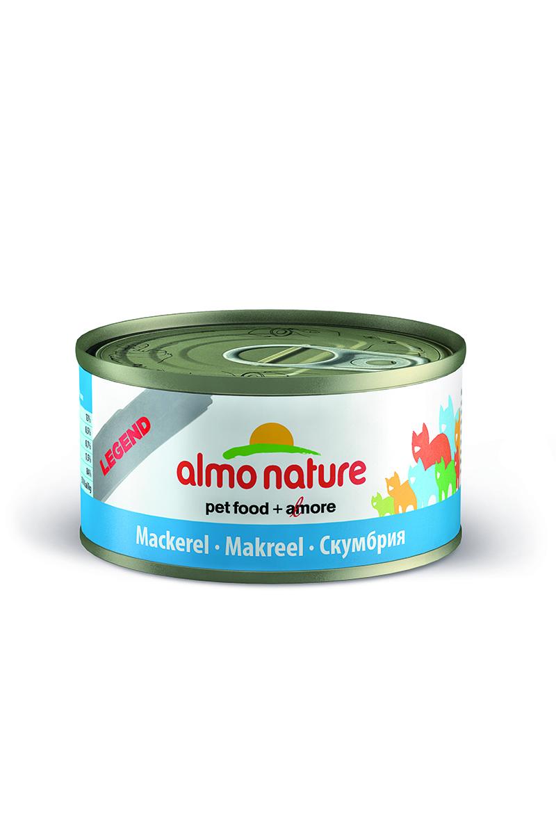 Консервы для кошек Almo Nature Legend, cо скумбрией, 70 г20046Консервы Almo Nature Legend - сбалансированный влажный корм для кошек, изготовленный из ингредиентов высшего качества, являющихся натуральными источниками витаминов и питательных веществ. Состав: скумбрия 75%, рыбный бульон 24%, рис 1%.Гарантированный анализ: белки – 19%, клетчатка – 1%, жиры – 1%, зола – 2%, влажность – 78%.Калорийность - 750 ккал/кг.Товар сертифицирован.