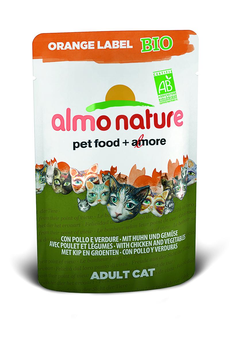 Консервы Almo Nature, для кошек, с курицей и овощами, 70 г0120710Консервы Almo Nature - премиум корм для взрослых кошек. Корм изготовлен только из свежих высококачественных натуральных ингредиентов, что обеспечивает здоровье вашей кошки. Не содержит ГМО, антибиотиков, химических добавок, консервантов и красителей.Состав: мясо курицы и его производные (из которого 37% свежего мяса), овощи (морковь и зеленый горошек в собственном соку), витамин D3 – 275 МЕ/кг.Гарантированный анализ: белки 8,5%, клетчатка 0,8%, жиры 4,5%, зола 3%, влажность 82%.Товар сертифицирован.