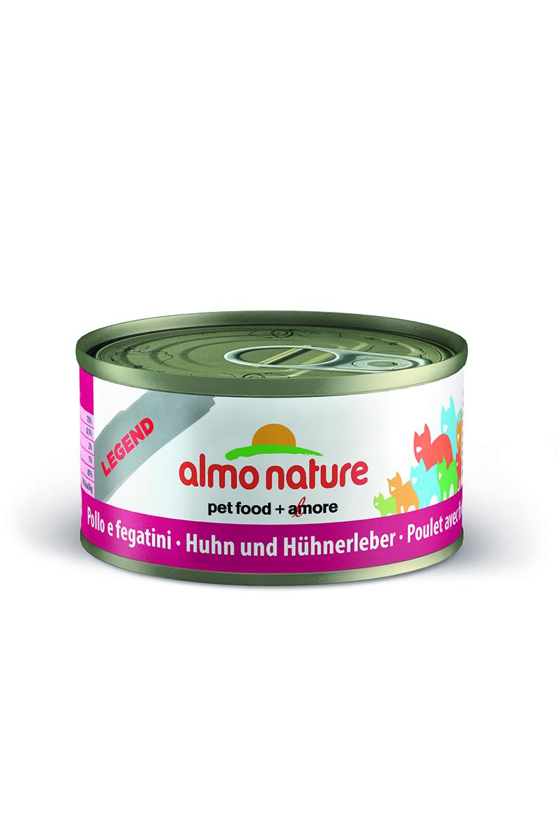 Консервы Almo Nature Legend для кошек, с курицей и печенью, 70 г24181Консервы Almo Nature - супер-премиум корм для кошек, в банках, сохраняющих свежесть каждого кусочка. Корм изготовлен только из свежих высококачественных натуральных ингредиентов, что обеспечивает здоровьевашей кошки. Не содержит ГМО, антибиотиков, химических добавок, консервантов и красителей.Состав: курица 70%, куриный бульон 24%, печень 5%, рис 1%. Гарантированный анализ: белки 15%, клетчатка 0.1%, масла и жиры 2%, зола 1%, влажность 81%.Товар сертифицирован.