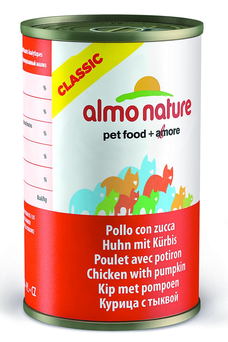 Консервы для кошек Almo Natureс Classic, с курицей и тыквой, 140 г25042Консервы Almo Nature Classic - сбалансированный влажный корм для кошек, изготовленный из ингредиентов высшего качества, являющихся натуральными источниками витаминов и питательных веществ. Состав: куриное филе 50%, куриный бульон 42%, тыква 5%, рис 3%.Гарантированный анализ: белок – 12%, клетчатка- 0,5%, жиры – 0,5%, зола – 2%, влажность -84%.Калорийность – 460 ккал/кг.Товар сертифицирован.