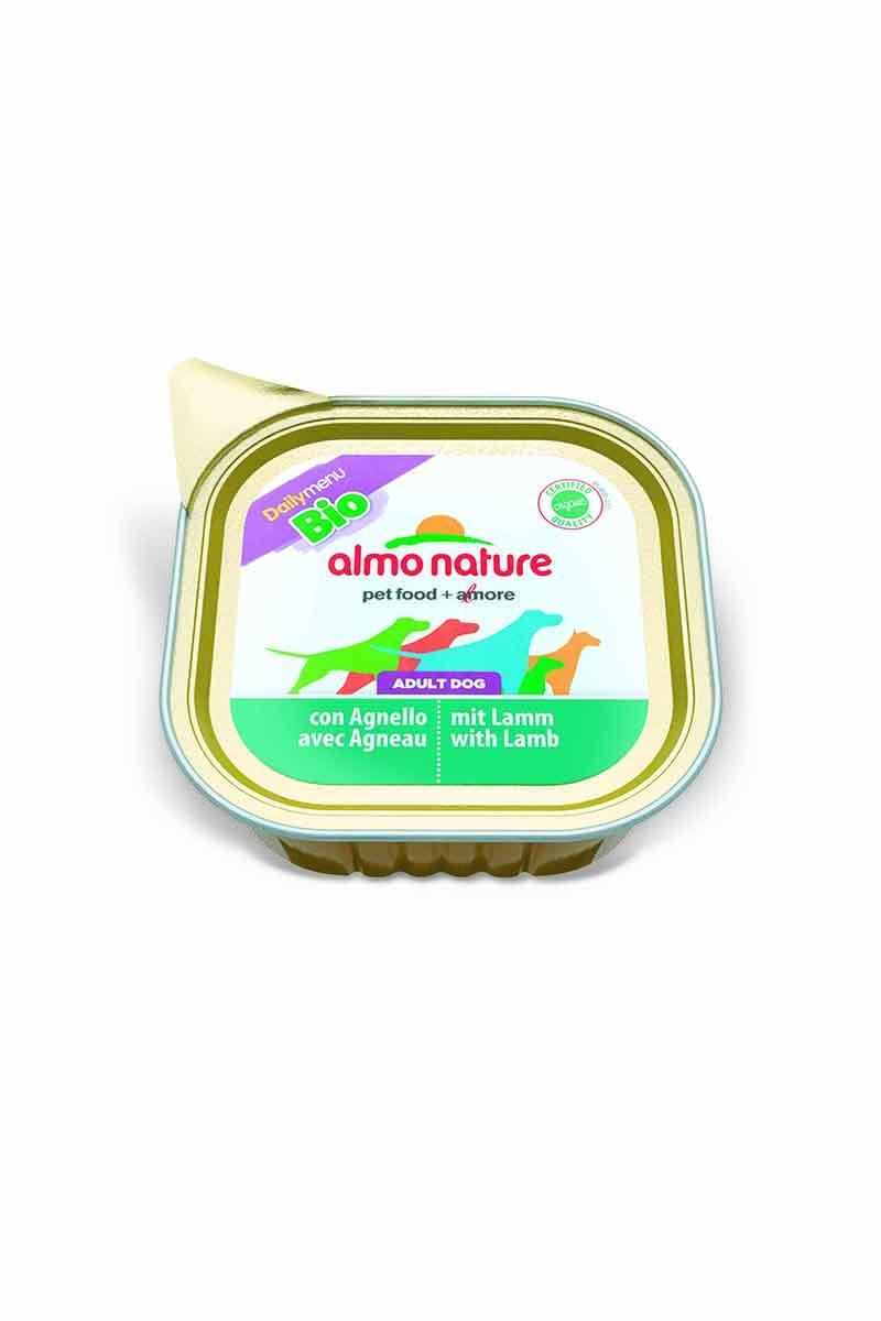 Паштет для собак Almo Nature Daily Menu. Bio, с ягненком, 100 г0120710Паштет для собак Almo Nature Daily Menu. Bio изготовлены из отборных, гипоаллергенных и легко усвояемых ингредиентов. Содержат питательные, высококачественные продукты: подлинное мясо свободного выгула - без гормонов и антибиотиков.Состав: мясо и его производные, минеральные вещества, витамин Е – 15 мг/кг, витамин D – 15 мкл/кг.Гарантированный анализ: белки – 10%, клетчатка – 0,3%, жиры – 5%, зола – 2%, влажность – 82%.Товар сертифицирован.