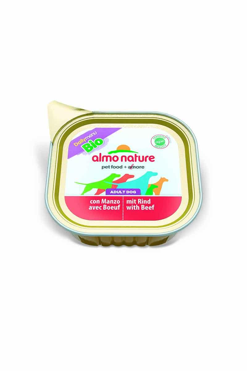 Консервы для собак Almo Nature Daily Menu, паштет, с говядиной, 100 г10127Консервы Almo Nature Daily Menu - сбалансированный влажный корм для собак, изготовленный из ингредиентов высшего качества, являющихся натуральными источниками витаминов и питательных веществ. Состав: мясо и его производные, минеральные вещества, витамин Е – 15 мг/кг, витамин D – 15 мкл/кг.Гарантированный анализ: белки – 10,5%, клетчатка – 1%, жиры – 5%, зола – 3%, влажность – 79%.Товар сертифицирован.