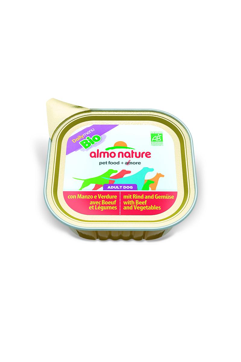 Консервы для кошек Almo Nature Daily Menu, паштет, с говядиной и овощами, 100 г10165Консервы Almo Nature Daily Menu - сбалансированный влажный корм для кошек, изготовленный из ингредиентов высшего качества, являющихся натуральными источниками витаминов и питательных веществ.Состав: мясо и его производные, овощи – 5%, минеральные вещества, витамин Е – 10 мг/кг.Гарантированный анализ: белки – 9%, клетчатка – 0,3%, жиры – 6%, зола – 2%, влажность – 81%. Товар сертифицирован.