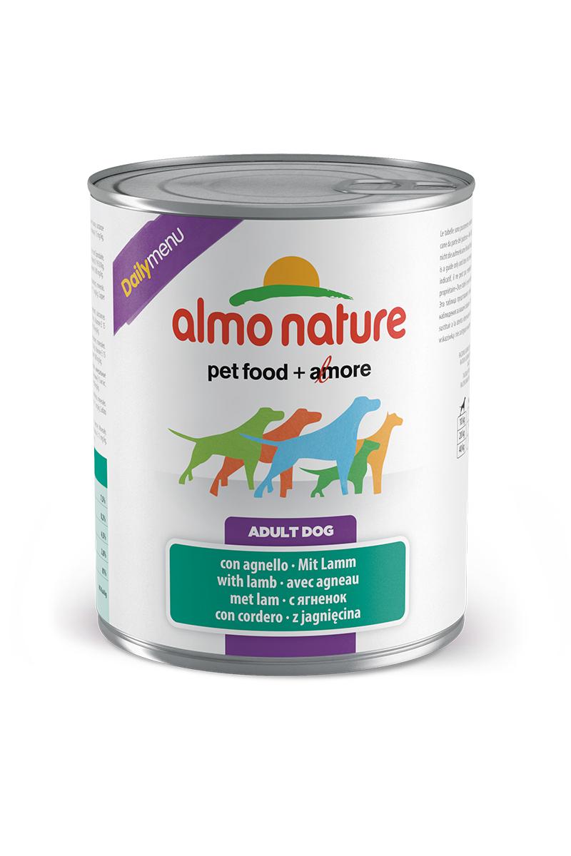 Консервы для собак Almo Nature Daily Menu, с ягненком, 800 г0120710Консервы Almo Nature Daily Menu - это супер-премиум корм для собак в банке с ключом, котораясохраняет свежесть каждого кусочка. Корм изготовлен только из свежихвысококачественных натуральных ингредиентов, что обеспечивает здоровьевашей кошки. Не содержит химических, или каких-либо других искусственных ингредиентов.Состав: мясо и его производные (из которого ягненок 4%), злаки, яйца и яичные продукты,минералы. Пищевые добавки: витамин A 1570 IU/кг, витамин D3 195 IU/кг, витамин E 15 мг/кг, сульфат медипентагидрат 7,6 мг/кг; технологические добавки: камедь кассии 3300 мг/кг. Пищевая ценность: белки 7,5%, клетчатка 0,2%, жиры 4,5%, зола 2.8%, влажность 81%. Калорийность: 802 ккал/кг.Товар сертифицирован.