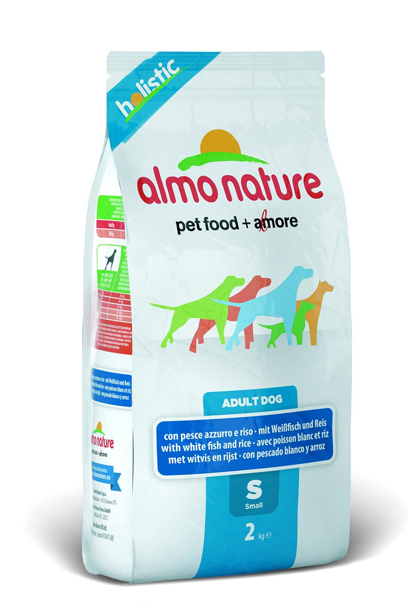 Корм сухой Almo Nature Holistic для взрослых собак малых пород, с белой рыбой и рисом, 2 кг10378Полнорационный корм Almo Nature Holistic для взрослых собак малых пород. Корм содержит большой процент свежей рыбы, что обеспечивает необходимым количеством питательных веществ и оптимальным содержанием протеина. Прекрасный вкус обеспечивается за счет свежих натуральных ингредиентов. Не содержит искусственных добавок, красителей, ароматизаторов, консервантов. Состав: мясо рыбы и его производные 52% (из которых 27% свежеприготовленная белая рыба), злаки (рис 14%, ячмень, овес), экстракт растительного белка, овощи и производные растительного происхождения, масла и жиры, дрожжи, минералы, мананоолигосахариды (MOS), фруктоолигосахариды (FOS). Пищевые добавки: витамин A 22000 IU/кг, витамин D3 1400 IU/кг, витамин E 300 мг/кг, витамин B1 12 мг/кг, витамин B2 14 мг/кг, кальций D-пантотенат 20 мг/кг, витамин B6 12 мг/кг, витамин B12 0,15 мг/кг, биотин 0,50 мг/кг, ниацин 25 мг/кг, фолиевая кислота 1 мг/кг, L-карнитин 100 мг/кг, сульфат пентагидрат меди 32 мг/кг, хелат меди аминокислоты гидрат 33 мг/кг, 3b203 1,64 мг/кг, моногидрат сульфата цинка 222 мг/кг, хелат цинка аминокислоты гидрат 267 мг/кг, моногидрат сульфата марганца 20 мг/кг, органический селен 80 мг/кг. Пищевая ценность: белки - 24%, клетчатка - 4%, масла и жиры - 14%, зола - 9%, влажность - 9%. Калорийность 3465 ккал/кг.Товар сертифицирован.