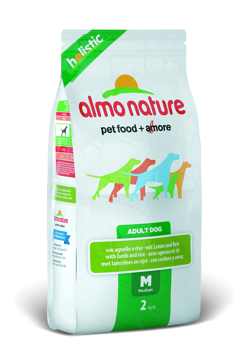 Корм сухой Almo Nature Holistic для взрослых собак, с ягненком, 2 кг0120710Полнорационный корм Almo Nature Holistic рекомендован для взрослых собак. Корм содержит большой процент свежего мяса, что обеспечивает необходимым количеством питательных веществ и оптимальным содержанием протеина. Прекрасный вкус обеспечивается за счет свежих натуральных ингредиентов. Не содержит искусственных добавок, красителей, ароматизаторов, консервантов. Состав: мясо и его производные (свежего ягненка 26%), злаки (рис 14%), экстракт растительных белков, производные растительного происхождения (инулин из цикория- источник ФОС-0.1%), масла и жиры, дрожжи, минералы, маннаноолигосахариды. Добавки: витамин A 22000 IU/кг, витамин D3 1400 IU/кг, витамин E 300 мг/кг, витамин B1 12 мг/кг, витамин B2 14 мг/кг, кальций D-пантотенат 20 мг/кг, витамин B6 12 мг/кг, витамин B12 0,15 мг/кг, биотин 0,50 мг/кг, ниацин 25 мг/кг, фолиевая кислота 1 мг/кг, сульфат пентагидрат меди 32 мг/кг, хелат меди аминокислоты гидрат 33 мг/кг, 3b203 1,64 мг/кг, моногидрат сульфата цинка 222 мг/кг, хелат цинка аминокислоты гидрат 267 мг/кг, моногидрат сульфата марганца 20 мг/кг, органический селен 80 мг/кг. Пищевая ценность: белки - 25%, клетчатка - 3,5%, масла и жиры - 14%, зола - 9%, влажность - 8,5% .Каллорийность: 3465 ккал/кг.Товар сертифицирован.