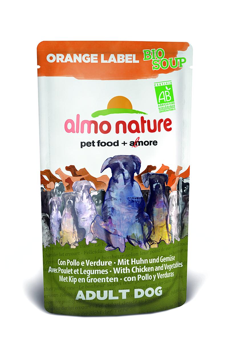 Органик-Суп для Собак с Курицей и Овощами (Orange label BIO Soup Chicken&Vegetables), 140 г.0120710Состав: курица и ее производные (из которых курица мин 4%), овощи (морковь и зеленый горошек мин. 4% в соусе), злаки, минералы, экстракт растительного белка.Питательные добавки: Витамин D3 276 МЕ/кгГарантированный анализ: белки – 7,5%, клетчатка – 0,8%, жиры – 6%, зола – 2%, влажность – 81%.Калорийность – 964 ккал/кг