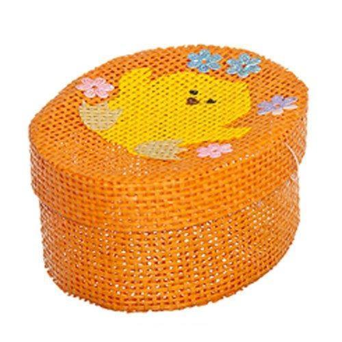 Шкатулка декоративная Home Queen Цыпленок, цвет: оранжевый, 10,5 см х 8 см х 5 см свеча декоративная home queen пирожное 5 5 см х 5 см х 2 см 2 шт