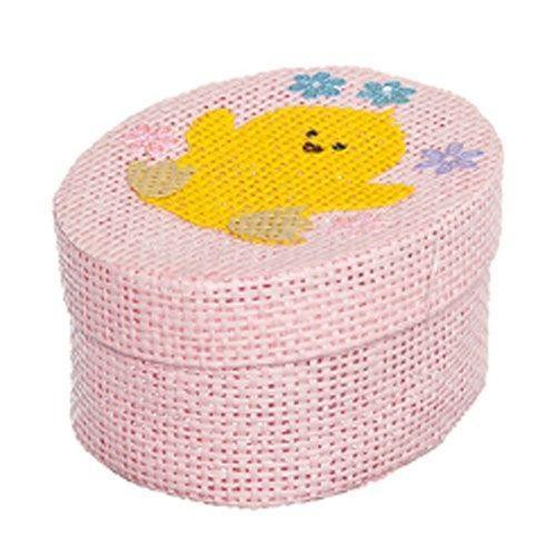 Шкатулка декоративная Home Queen Цыпленок, цвет: розовый, 10,5 см х 8 см х 5 см свеча декоративная home queen пирожное 5 5 см х 5 см х 2 см 2 шт