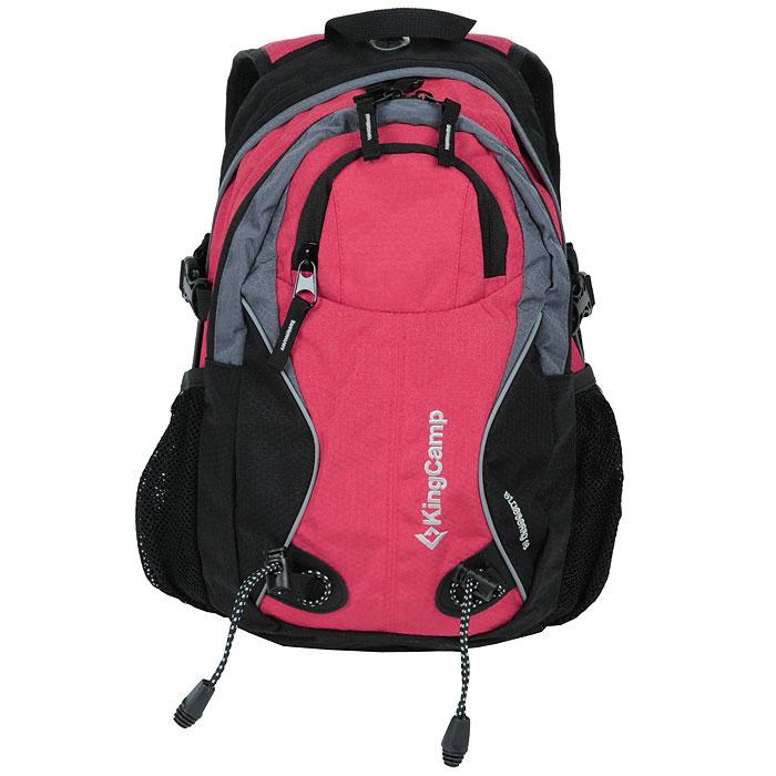 Рюкзак городской KingCamp Blueberry 18, цвет: коралловый, черный5533Рюкзак KingCamp Blueberry 18 предназначен для прогулок, путешествий и скалолазания. Он позволит вам взять с собой все необходимое. Рюкзак выполнен из прочного нейлона. Особенности рюкзака:водонепроницаемая ткань; система вентиляции спины ACS; три кармана; крепеж для ледоруба; фурнитура NIfCO; система для гидратора. Характеристики: Материал: полиэстер 600D, Honeycomb RipStop с PU покрытием. Объем рюкзака: 18 л. Размер: 45 см х 29 см х 10 см. Вес: 550 г. Цвет: красный, черный. Артикул: КВ3288. Производитель: Китай.