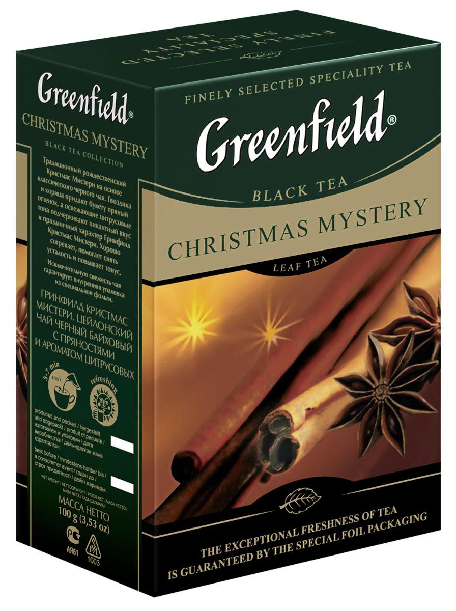 Greenfield Christmas Mystery черный листовой чай, 100 г0120710Greenfield Christmas Mystery - традиционный английский рождественский чай, которыйсоздан на основе черного цейлонского чая с плантаций Ува с добавлением гвоздики, корицы, цитрусовых и сушеных яблок. Пряности придают напитку дополнительный тонизирующий и согревающий эффект, своеобразный вкус и теплый аромат, очень пикантный и праздничный. Кроме того, корица и гвоздика содержат вещества, которые снижают усталость и повышают тонус, что важно зимой, когда мало солнца, тепла, и многие из нас испытывают снижение эмоционального и физического тонуса. Идеальный вечерний напиток, создает атмосферу домашнего уюта и предвкушение праздника.
