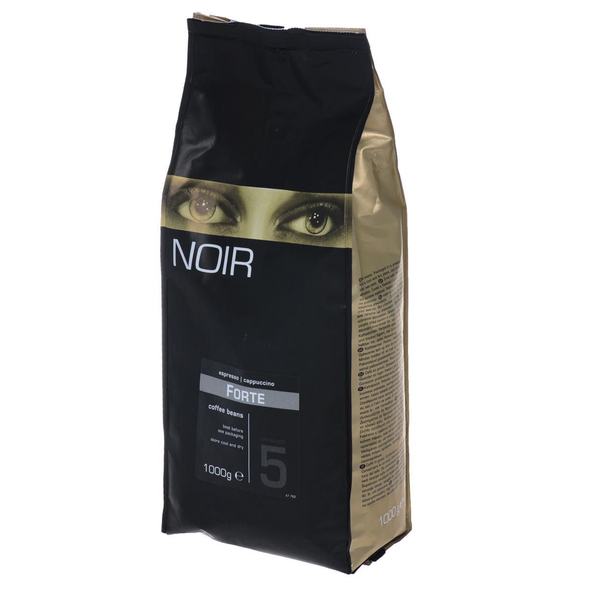 Noir Forte кофе в зернах, 1 кг0120710Кофе натуральный жареный в зернах Noir Forte - это качественный и крепкий напиток, который отличается пряным ароматом и насыщенным вкусом со сливочным оттенком. Данная кофейная смесь на 20% состоит из отборной Арабики и на 80% из Робусты. Большое количество Робусты обеспечивает воздушную шапку пены при приготовлении эспрессо. Мощный и будоражащий вкус кофе Noir Forte прекрасно подходит для тех кофеманов, которые не могут проснуться по утрам.