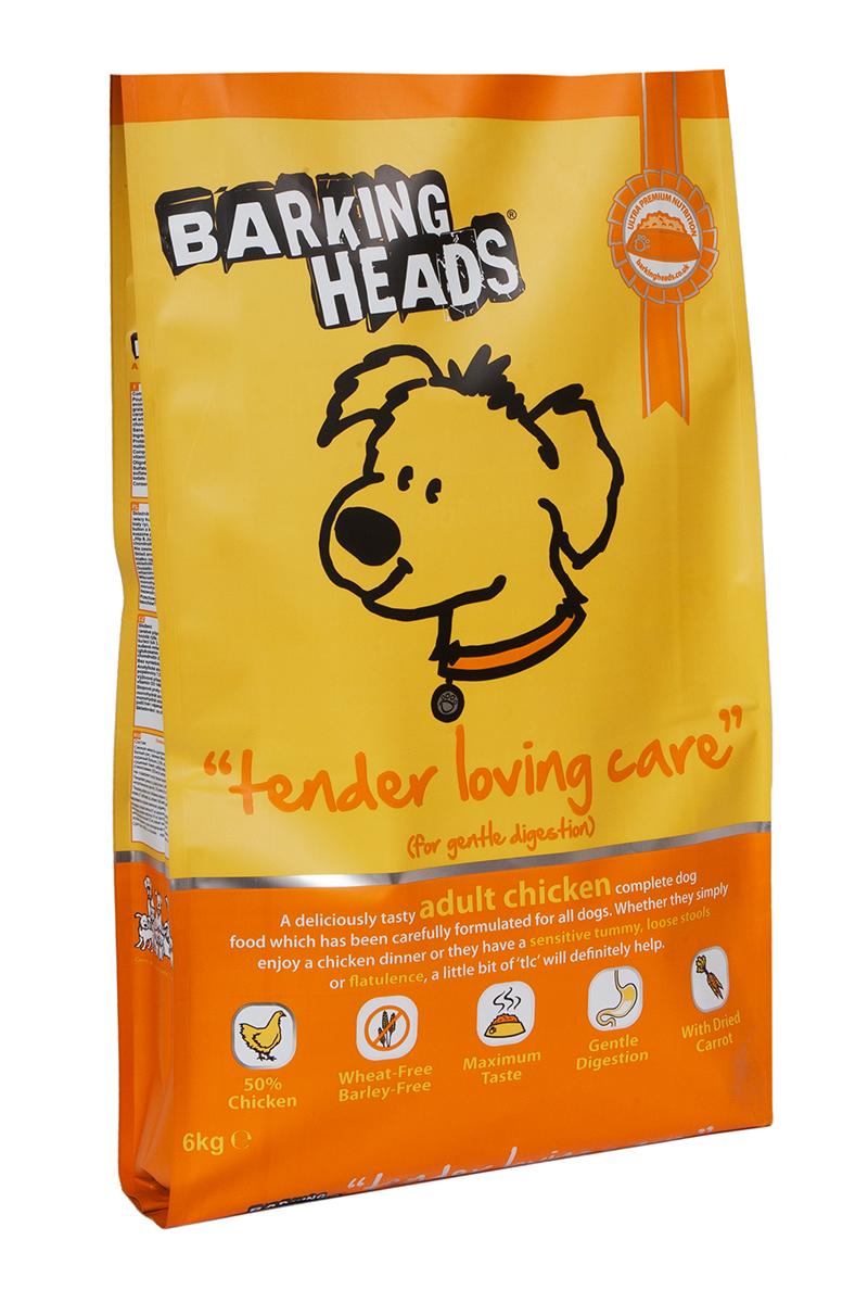 Корм сухой Barking Heads Нежная забота, для собак с чувствительным пищеварением, с курицей и рисом, 6 кг18107Сухой корм Barking Heads - вкуснейший полнорационный корм для собак, специально разработанный, чтобы держать наших любимцев в наилучшей форме! Натуральные ингредиенты непременно понравятся вашему питомцу.Состав: свежеприготовленная курица 27%, сушеное куриное мясо 21%, коричневый рис, овес, белый рис, свежеприготовленная форель 5%, люцерна, куриный жир, 3,5%, куриный бульон 2,5%, подсолнечное масло, морские водоросли, сушеная морковь, сушеный томат, забота о бедрах и суставах (глюкозамин 350 мг/кг, МСМ 350 мг/кг, хондроитин 240 мг/кг).Гарантированный анализ (%): белок 25%, содержание жира 17,5%, клетчатка 2,5%, зола 7,5%, влага 8%, Омега-6 3,6%, Омега-3 1%.Витамины: витамин А 16650 МЕ, витамин D3 1480 МЕ, витамин Е 460 МЕ.Комплекс микроэлементов: моногидрат сульфата железа 617 мг, моногидрат сульфата цинка 514 мг, моногидрат сульфата марганца 101 мг, пентагидрат сульфата меди 37 мг, безводный йодат кальция 4,55 мг, селенит натрия 0,51 мг.Товар сертифицирован.
