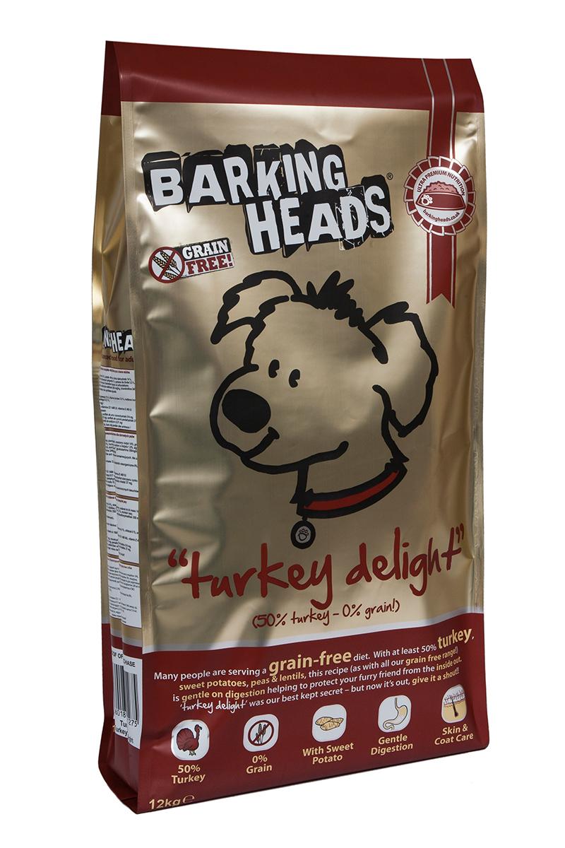 Корм сухой Barking Heads Бесподобная индейка, для собак, беззерновой, с индейкой и бататом, 12 кг0120710Сухой корм Barking Heads является беззерновым полноценным питанием для собак. Изделие имеет высокое содержание витаминов и питательных веществ.Сухой корм содержит натуральные компоненты, которые необходимы для полноценного и здорового питания домашних животных. Рецептура корма построена по принципу питания плотоядных. Состав: свежеприготовленная индейка 34%, сладкий картофель, сушеная индейка 14%, свежеприготовленная форель 5%, чечевица, горох, жир индейки 3%, бульон из индейки 1,5%, люцерна, морские водоросли, забота о бедрах и суставах (глюкозамин 350 мг/кг, МСМ 350 мг/кг, хондроитин 240 мг/кг).Гарантированный анализ (%): белок 24%, содержание жира 15%, зола 8%, клетчатка 3,5%, влага 8%, омега-6 2,3%, омега-3 0,7%.Витамины: витамин А 16650 МЕ, витамин D3 1480 МЕ, витамин Е 460 МЕ.Микроэлементы: моногидрат сульфата железа 617 мг, моногидрат сульфата цинка 514 мг, моногидрат сульфата марганца101 мг, пентагидрат сульфата меди 37 мг, безводный йодат кальция 4,55 мг, селенит натрия 0,51 мг.Товар сертифицирован.