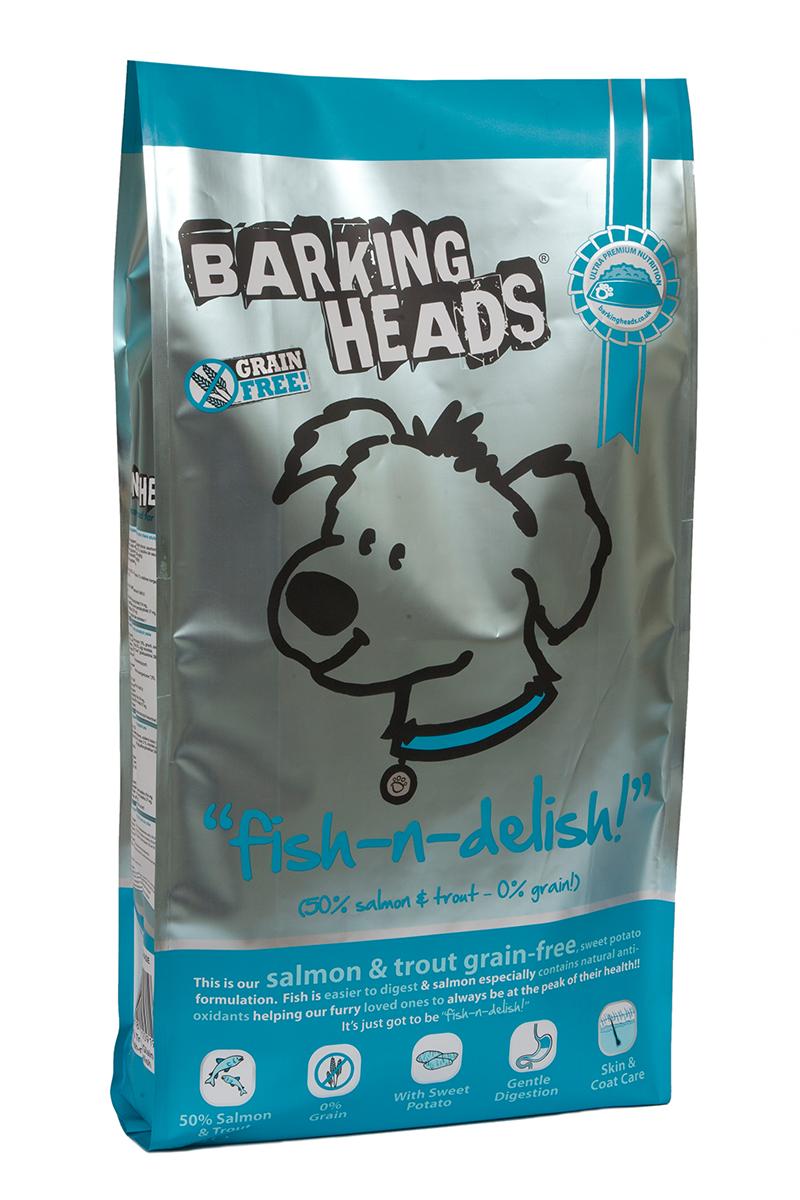 Корм сухой Barking Heads Рыбка-вкусняшка, для собак, беззерновой, с форелью и бататом, 12 кг0120710Сухой корм Barking Heads является беззерновым полноценным питанием для собак. Изделие имеет высокое содержание витаминов и питательных веществ. Сухой корм содержит натуральные компоненты, которые необходимы для полноценного и здорового питания домашних животных. Рецептура корма построена по принципу питания плотоядных.Состав: свежеприготовленный лосось и форель 33%, сладкий картофель, сушеный лосось, 13%, чечевица, горох, подсолнечное масло, лососевый жир 2%, гороховый протеин, бульон из лосося 2%, люцерна, морские водоросли, забота о суставах (глюкозамин 350 мг/кг, МСМ 350 мг/кг, хондроитин 240 мг/кг).Гарантированный анализ (%): белок 23%, жиры 16,5%, зола 7,5%, клетчатка 3%, влага 8%, омега-6 4%, омега-3 2,5%.Витамины: витамин А 16650 МЕ, витамин D3 1480 МЕ, витамин Е 460 МЕ.Микроэлементы: моногидрат сульфата железа 617 мг, моногидрат сульфата цинка 514 мг, моногидрат сульфата марганца101 мг, пентагидрат сульфата меди 37 мг, безводный йодат кальция 4,55 мг, селенит натрия 0,51 мг.Товар сертифицирован.