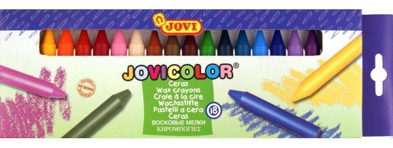 Jovu Карандаши восковые 18 цветовC13S041944Восковые карандаши Jovi - отличный вариант для развития наглядно-образного мышления, воображения, мелкой моторики рук, творческих и художественных способностей, а также усидчивости и аккуратности. Карандаши изготовлены на основе полимерных восков, натуральных наполнителей и высококачественных пигментов. Они не пачкают руки малыша, они мягкие, прочные и не имеют запаха. Восковые карандаши отличаются яркими и насыщенными цветами, позволяют проводить мягкие и ровные штрихи. Порадуйте своего ребенка таким замечательным подарком!