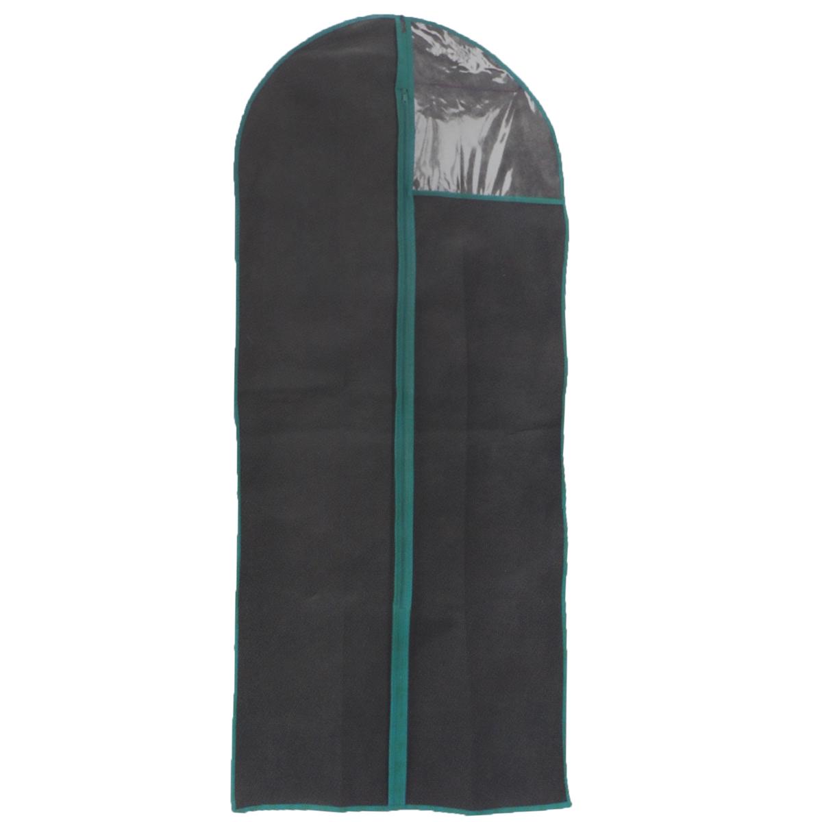 Чехол для одежды, цвет: черный, 60 см х 90 смCLP446Чехол для одежды изготовлен из высококачественного нетканого материала. Особое строение полотна создает естественную вентиляцию: материал дышит и позволяет воздуху свободно проникать внутрь чехла, не пропуская пыль. Благодаря форме чехла, одежда не мнется даже при длительном хранении. Застегивается на молнию. Окошко из пластика позволяет видеть, какие вещи находятся внутри. Чехол для одежды будет очень полезен при транспортировке вещей на близкие и дальние расстояния, при длительном хранении сезонной одежды, а также при ежедневном хранении вещей из деликатных тканей. Чехол для одежды не только защитит ваши вещи от пыли и влаги, но и поможет доставить одежду на любое мероприятие в идеальном состоянии.