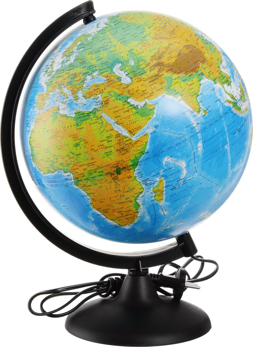 Глобусный мир Глобус с физической/политической картой мира диаметр 25 см с подсветкойFS-00897Глобус с физической/политической картой мира Глобусный мир, изготовленный из высококачественного и прочного пластика, показывает страны мира, границы того или иного государства, расположение столиц, городов и населенных пунктов. Изделие расположено на пластиковой подставке. На глобусе нанесен рельеф, который отчетливо показывает рельеф местности и горные массивы. На данной модели нанесены направления и названия водных течений. Названия стран на глобусе приведены на русском языке. Глобус имеет подсветку. Настольный глобус Глобусный мир станет оригинальным украшением рабочего стола или вашего кабинета. Это изысканная вещь для стильного интерьера, которая станет прекрасным подарком для современного преуспевающего человека, следующего последним тенденциям моды и стремящегося к элегантности и комфорту в каждой детали.Масштаб: 1:50 000 000.
