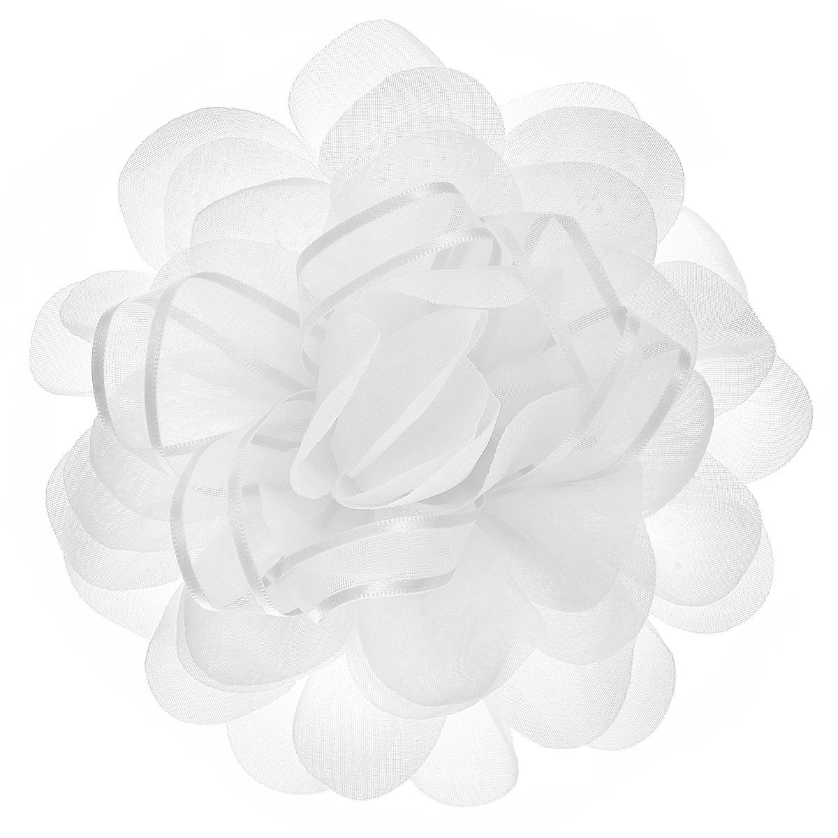 Babys Joy Резинка для волос, цвет: белый. DB 355Серьги с подвескамиРезинка для волос Babys Joy выполнена в виде большого цветка из текстиля и в центре оформлена лентой из органзы. Резинка для волос Babys Joy подчеркнет красоту прически вашей маленькой модницы.