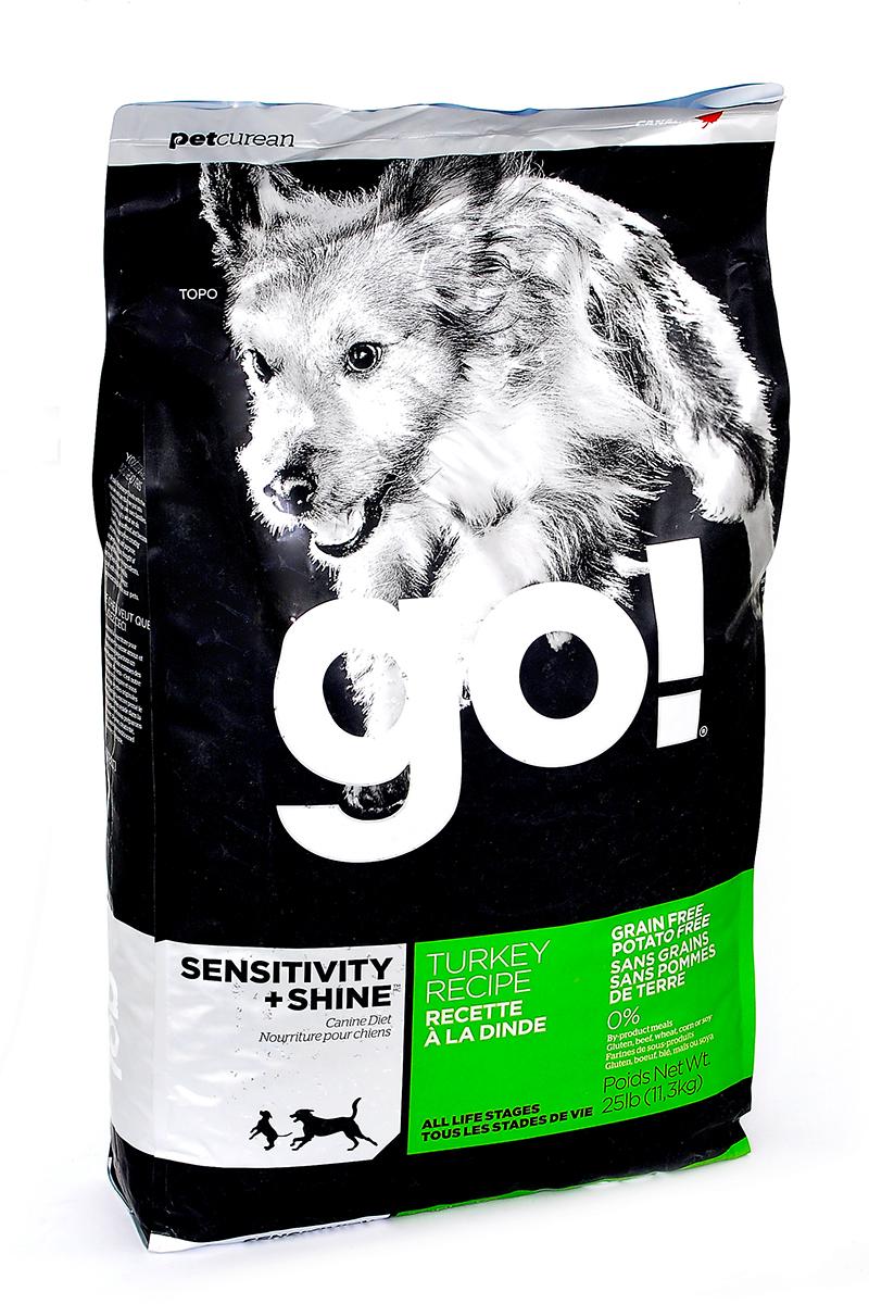 Корм сухой GO! для щенков и собак с чувствительным пищеварением, беззерновой, с индейкой, 11,3 кг0120710Сухой корм GO! предназначен для щенков и собак. В качестве основного источника углеводов используется чечевица, а не картофель, поэтому корм идеально подходит для собак чувствительных к картофелю (крахмалу) или при беззерновой диете. Основным источником белка является мясо индейки, что отлично подходит для собак с пищевой аллергией.Ключевые преимущества: - единственный источник белка - мясо индейки, - полностью беззерновой, - прибиотики и пробиотики нормализуют работу кишечника и улучшают работу пищеварительной системы, - жирные Омега кислоты - здоровье и блеск шерсти, - поддержка иммунной системы за счет фруктов и овощей, богатых антиоксидантами, - полное отсутствие субпродуктов, ГМО, искусственных консервантов, глютена, говядины, пшеницы, кукурузы и сои. Состав: свежее мясо индейки, филе индейки, горох, тапиока, каноловое масло (с Витамином Е в качестве консерванта), яичный порошок, гороховая клетчатка, натуральный ароматизатор, чечевица, хлорид калия, тыква, морковь, бананы, черника, клюква, брокколи, ежевика, папая, ананас, шпинат, домашний творог, сухие водоросли, сушеный корень цикория, холин хлорид, лецитин, Lactobacillus acidophilus, Enterococcus faecium, Aspergillus niger, Aspergillus oryzae, витамины (витамин А, витамин D3, витамин Е, инозитол, ниацин, L-аскорбил-2-полифосфатов (источник витамина С), D-пантотенат кальция, мононитрат тиамина, бета-каротин, рибофлавин, пиридоксин гидрохлорид, фолиевая кислота , биотин, витамин В12), минералы (цинк метионин комплекс, протеинат цинка, протеинат железа, протеинат меди, оксид цинка, протеинат марганца, сульфат меди, сульфат железа, йодат кальция, оксид марганца, селена, дрожжи), хлорид натрия, таурин, экстракт Юкка Шидигера, сушеный розмарин, дрожжевой экстракт. Гарантированный анализ: белки (min) - 30%, жиры (min) - 16%, клетчатка (max) - 3%, влага (max) - 10%, кальций (min) - 1,8%, фосфор (min) - 0,9%, жирны